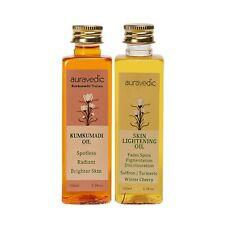 Auravedic Skin Lightening Oil 100 Ml & Kumkumadi Oil, 100 Ml Free Shipping