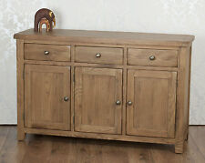 Chunky Solid Oak Dorset Country 3 Door 3 Drawer Sideboard / Cabinet / Cupboard