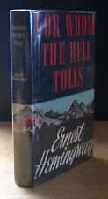 FOR WHOM THE BELL TOLLS (1940) ERNEST HEMINGWAY, 1ST BOMC EDITION IN WRAPPER
