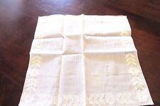 Vintage Hand Embroidered Floral Linen Handkerchief  12 x 12 New Switzerland