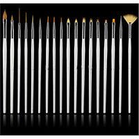 15pcs/set Nail Art UV Gel Design Brush Set Painting Pen Manicure Tips Tools UK