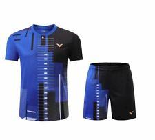 New victor men's sports Tops tennis/Table tennis clothes set T shirts+shorts
