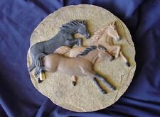 Western Wild Horses Concrete Cement Plaster Patio Stepping Stone Mold 1074