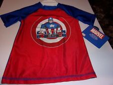 Marvel Boys 3T Captain America T-Shirt Upf 50+ / Brand New With Tags