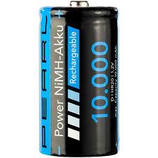 Akku Mono: NiMH-Akku Monozelle Typ D 10000 mAh (Batterien Typ D)