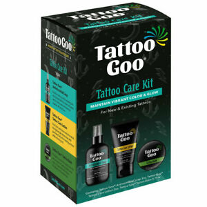 New Tattoo Goo 3 in 1 Aftercare Kit - For Healing & Protection Tin Soap Lotion