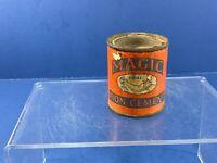 Vintage, Old Magic Iron Grip Cement 3 oz Tin, Great Advertising Collectible, USA