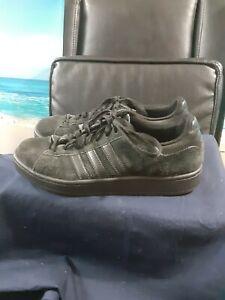 **Men's Skate Shoes Adidas Black Suede Size 9 UK 8 1/2**