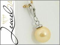 Charms Anhänger echt Silber 925 Sterling rhodiniert mit Muschelkern-Perle