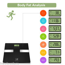 Touch Bathroom Weight Body Fat Scale Digital 7 Parameters BMI Bone Muscle 400 lb