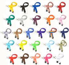 FreshTech® Lanyard 20mm with Safety Break & Metal clip - Choice of 27 colours