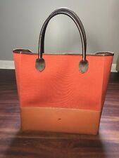Lands Ends Extra Large Tote Beach Bag Rubber Bottom