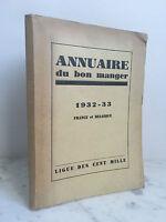 Stagione 1932-33 Annuario Del Buono Pranzo Lega Delle Cent Mille