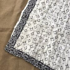 Urban Outfitters 24 X 26 Pillow Sham Boho Country White Black 1 Large Bed Anthro