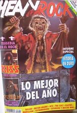 HEAVY ROCK:N.101-IRON MAIDEN-KISS-QUEEN-GILLAN-UFO-EXTREMODURO-CULT-S.A.-DEATH