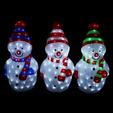 LED Schneemann mit 40 LEDs  Größe 17 x 15 x 30,5 cm