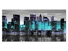 HD Glasbild EG4100500894 NEW YORK SKYLINE TÜRKIS 100 x 50 cm Wandbild STADT