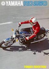 1973 YAMAHA RD 250 MOTORCYCLE A3 POSTER AD ADVERT ADVERTISEMENT SALES BROCHURE