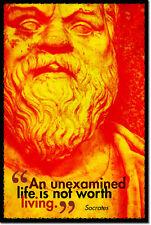 Sócrates Arte Foto impresión Poster Regalo filosofía la examinada vida citar
