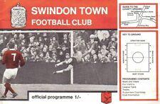 Football Programme>SWINDON TOWN v PLYMOUTH ARGYLE Aug 1968
