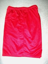 HIBBETT'S SPORTS MENS SIZE M RED MESH ATHLETIC SHORT