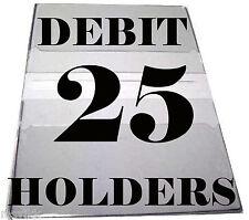 Debit Card Holders Clear Vinyl Cover 4 Pockets - Set of 25