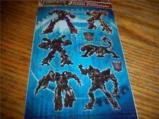 Transformers Revenge of the Fallen 2 Sticker Sheets NEW