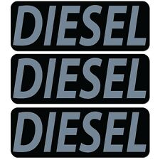 3x Diesel Fuel Only Vinyl Sticker Decal Gas Cap Cover Black Grey Label Marker
