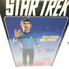 """AMT ERTL Star Trek First Officer Mr Spock 12"""" Vinyl Model Kit #8704 live long"""