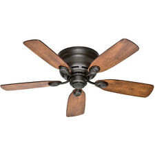 "Hunter Low Profile IV 42"" Quiet Home Ceiling Fan with Pull Chain, New Bronze"
