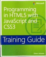 Programming in HTML5 with JavaScript and CSS3 Training Guide (Paperback or Softb