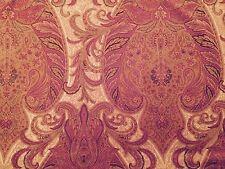LEE JOFA MULBERRY Pasha Velvet cotton paisley red grape new remnant