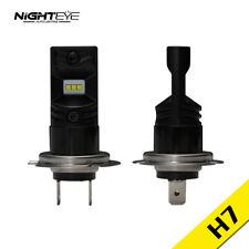 NIGHTEYE 2x 1600LM H7 160W LED Fog Light White Bulbs Driving Lamps Kit 6500K DRL