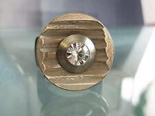 "Metall-Scheibe - ""Rillen""- 20mm - kompatibel m. Charlotte 21 Ring u.a."
