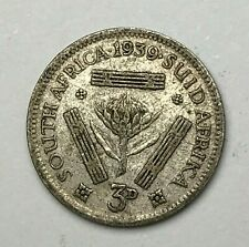 Dated : 1939 - Silver Coin - South Africa - Threepence - 3d - King George VI
