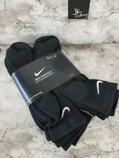 Cojín cotidianos Nike Dri-Fit Calcetines al tobillo NEGRO 6-Pack Para Hombre Talla 8-12 SX7669-010
