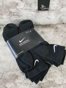 Nike Everyday Cushion Dri-Fit Ankle Socks Black 6-Pack Men's Sz 8-12 SX7669-010