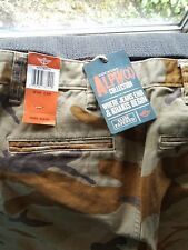 NWT - Dockers Alph(a) Collection Slim Tapered Brown Camo Print - 28W 28L