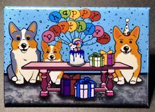 Corgi Dog Happy Birthday Magnet Celebration Party Gifts and Home Decor