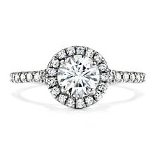 1.50 Ct Round Cut Solitaire Diamond Engagement Ring 14K White Gold Size L M