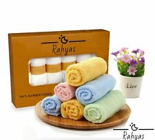Ultra Soft Organic Luxury Bamboo Wash Cloths Face Towel Flannel Wipes (6-pack)