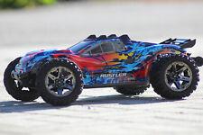 Traxxas TRX 67076-4 Red Rustler 4x4 Vxl Brushless Blue Stadium Truck 1:10 New