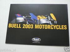 D823 BROCHURE BUELL 2003 MOTORCYCLES PROSPEKT,FOLDER LIGHTNING XB9S,FIREBOLT XB9