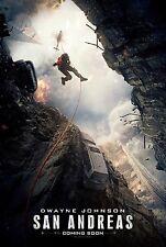 San Andreas Movie Poster (24x36) - Dwayne Johnson, Carla Gugino, Daddario v1