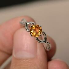 Citrine Ring, Natural Stone, 92.5 Sterling Silver Ring