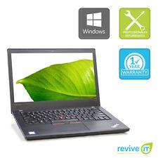 Lenovo ThinkPad T470 Laptop i5-7300U Min 2.6GHz 8GB 256GB SSD Win 10 Pro 1Yr Wty