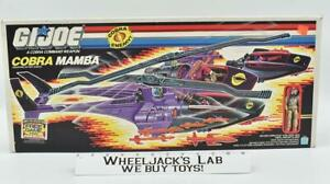 Cobra Mamba & Driver MIB 100% Complete 1987 GI Joe Hasbro Vintage Vehicle