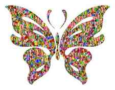 Rainbow Butterfly Colourful Iron on transfer / Fun / KIDS - A5 Size