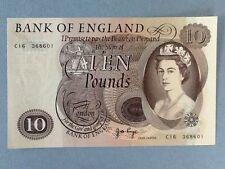 Great Britain 10 Pounds P-376-C  AU