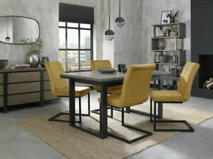 Turner Weathered Oak 4-6 Seater Dining Table with Peppercorn Legs & 4 Lewis Must